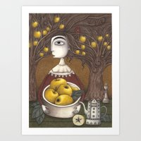 Portrait of an Apple Orchard Art Print