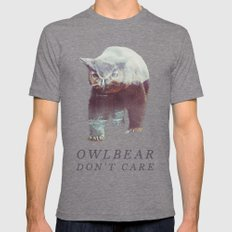 Owlbear (Typography) Mens Fitted Tee Tri-Grey SMALL