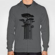 Barcode Trees Illustrati… Hoody