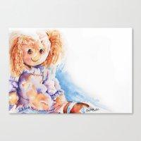 Raggedy Rosie ... Rag Do… Canvas Print