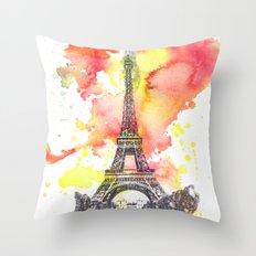 Eiffel Tower in Paris France Throw Pillow