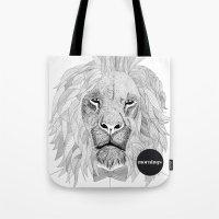Asleep lion Tote Bag