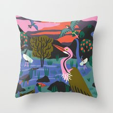 Bird Reserve Throw Pillow