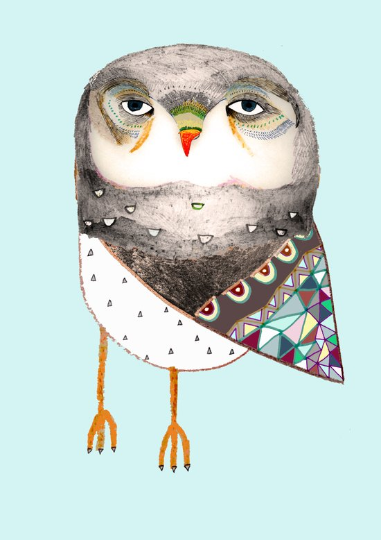 Owl by Ashley Percival Art Print