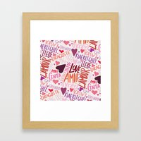 Love Languages Framed Art Print