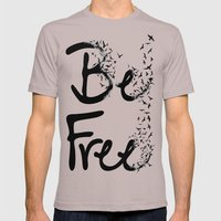 BE FREE Mens Fitted Tee Cinder SMALL