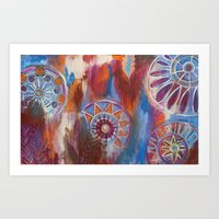 Abstract Mandalas Art Print