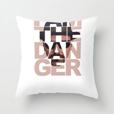 Breaking Bad Heisenberg I am the Danger Brown Throw Pillow
