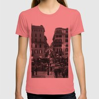 Rain In Rome Womens Fitted Tee Pomegranate SMALL