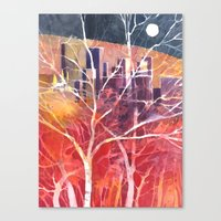 Towers Between The Trees Canvas Print