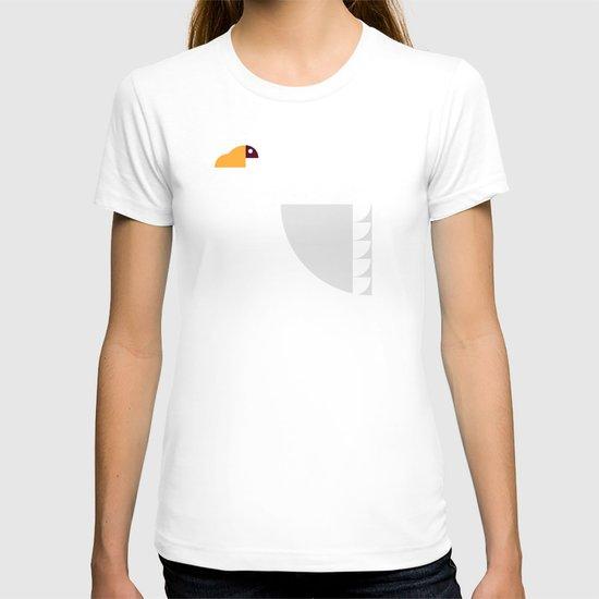 Geometric swan T-shirt