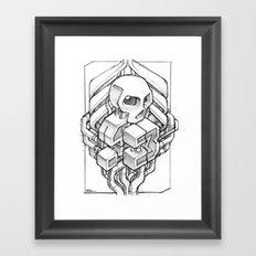 Isometric 13 Skull sketch Framed Art Print