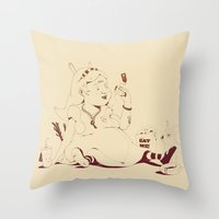 Alice Stuck In The Wonde… Throw Pillow