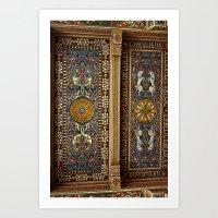 Sicilian ART NOUVEAU - Stile Floreale  Art Print