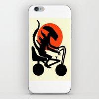 alien on a chopper iPhone & iPod Skin
