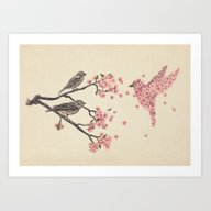 Art Print featuring Blossom Bird  by Terry Fan