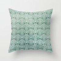 Art Nouveau Grunge Patte… Throw Pillow