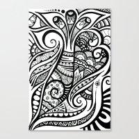 Trumpeting Tangle Canvas Print