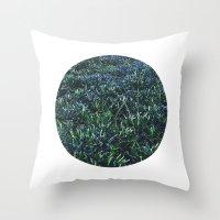 Planetary Bodies - Blue … Throw Pillow