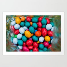 Chocolates candies Art Print