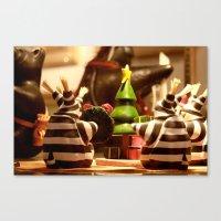 Tis The Season Gathering | Christmas Toy Canvas Print