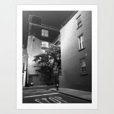 Minetta Street - Solarized Art Print
