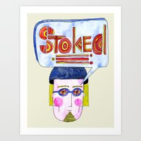 STOKED!!! Art Print