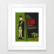 Leon and Mathilda Framed Art Print