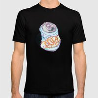Cola Can Mens Fitted Tee Black SMALL
