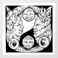 Misunderstandings Betwee… Art Print