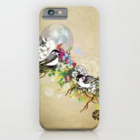 iPhone & iPod Case featuring Two Birds by Jo Cheung Illustration