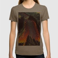 Active Volcano in Guatemala Womens Fitted Tee Tri-Coffee SMALL