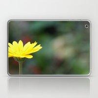 yellow flower. Laptop & iPad Skin