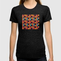 March Womens Fitted Tee Tri-Black SMALL