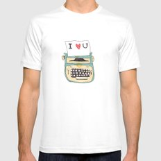I love typewriters Mens Fitted Tee White SMALL