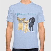 Brussels Griffon Mens Fitted Tee Tri-Blue SMALL