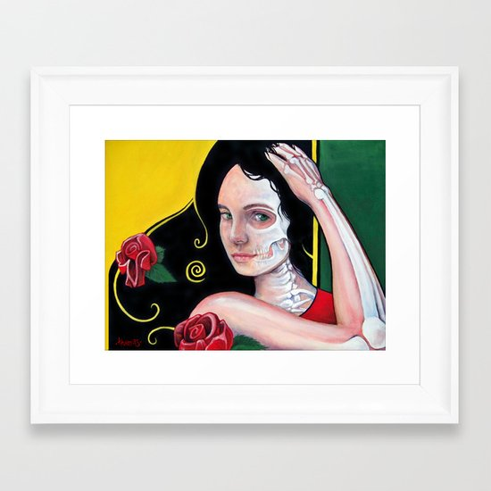 Dia de los Muertos Framed Art Print
