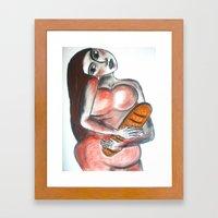 All the evil food - 2 Framed Art Print