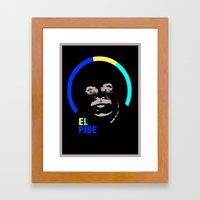 Carlos Valderrama – El Pibe Framed Art Print