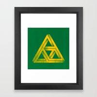 Penrose Triforce Framed Art Print