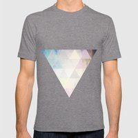 Geometric Groove Mens Fitted Tee Tri-Grey SMALL