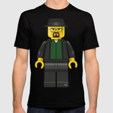 Lego Walter White - Vector SMALL Mens Fitted Tee Black