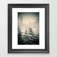 Turret In Snow Framed Art Print