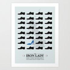 the Iron Lady - minimal poster v1 Art Print