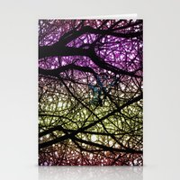Ribbon in a Tree-Colourful Version Stationery Cards