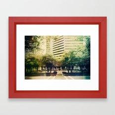 Halftone Window Chasm Framed Art Print