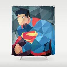 DC Comics Man of Steel Shower Curtain