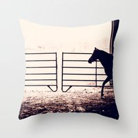 Horse Silhouette Throw Pillow