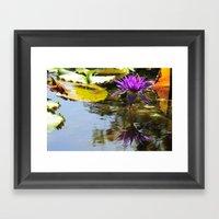 Cliche Waterlily Shot Framed Art Print