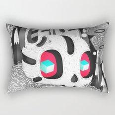 Forestyne (Black & white) Rectangular Pillow